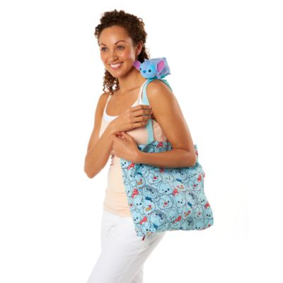 Borsa shopper arrotolabile con peluche Tsum Tsum Stitch