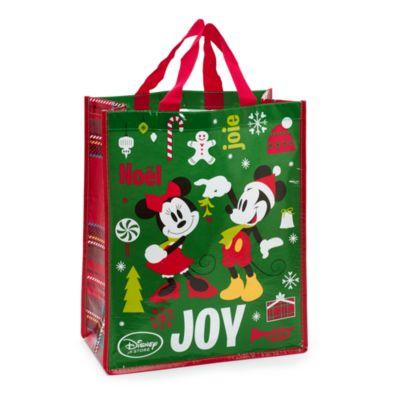 Sac de Noël réutilisable Mickey Mouse et ses amis, taille moyenne