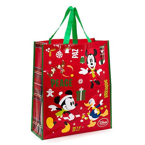 Bolsa navideña reutilizable Mickey Mouse y sus amigos (tamaño grande)