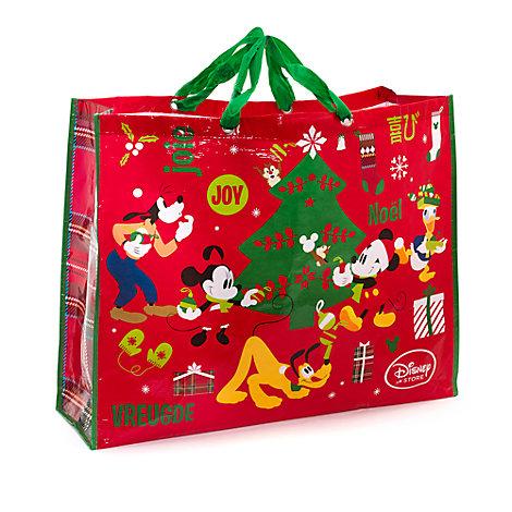 Micky Maus und Freunde - Wiederverwendbare Weihnachtstasche extragroß