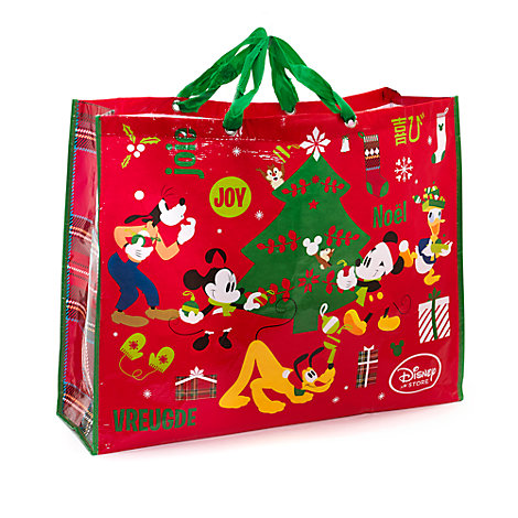 Borsa natalizia extralarge riutilizzabile Topolino e i suoi amici