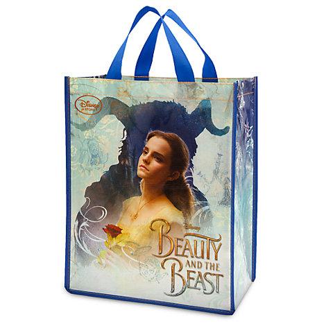 Återanvändbar shoppingväska med Skönheten och Odjuret