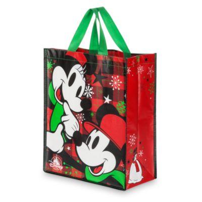 Mickey og Minnie Mouse genanvendelig indkøbstaske, standardstørrelse