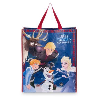 Grand sac de shopping réutilisable, Joyeuses fêtes avec Olaf
