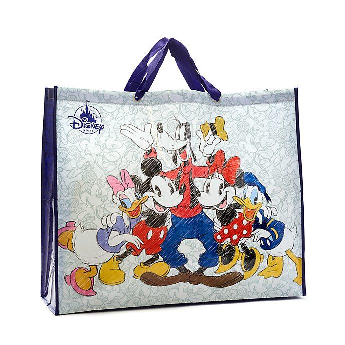 Disney Store Sac de shopping extra large réutilisable, Mickey et ses amis