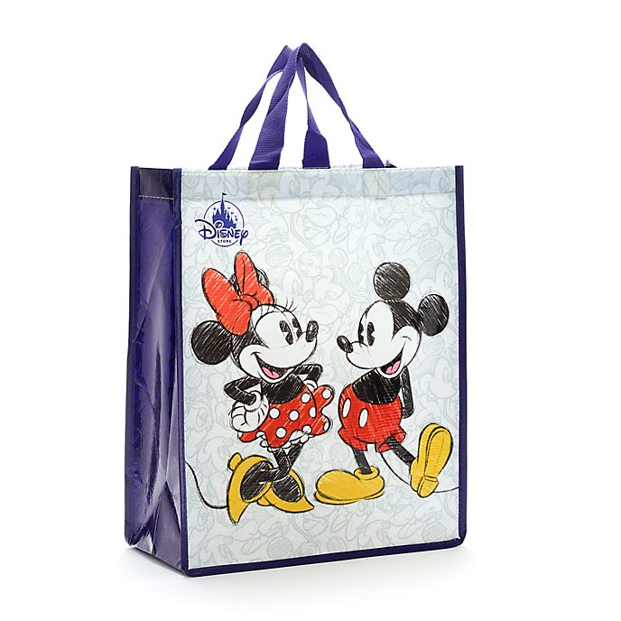 Disney Store Mickey and Minnie Mouse Reusable Shopper Bag, Standard