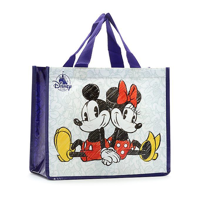 Disney Store Mickey and Minnie Mouse Reusable Shopper Bag, Petite