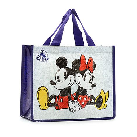 Petit sac de shopping réutilisable Mickey et Minnie