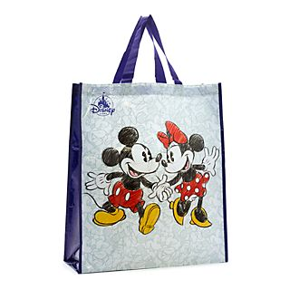 Disney Store Grand sac de shopping réutilisable, Mickey et Minnie