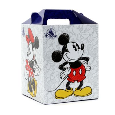 Boîte cadeau de taille moyenne, Mickey et Minnie Mouse
