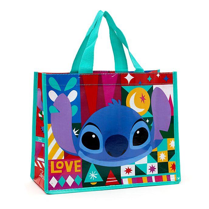 Disney Store Petit sac de shopping réutilisable Stitch, Share the Magic