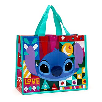Disney Store Petit sac de shopping réutilisable Stitch, Share the Magic