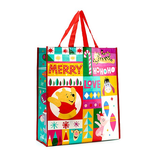 Disney Store Grand sac de shopping réutilisable Winnie l'Ourson et ses amis, Share the Magic