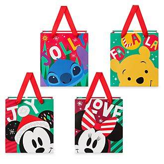 Disney Store Lot de 4sacs cadeau Mickey et ses amis
