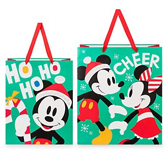 Disney Store Lot de 2grands sacs cadeau Mickey et Minnie