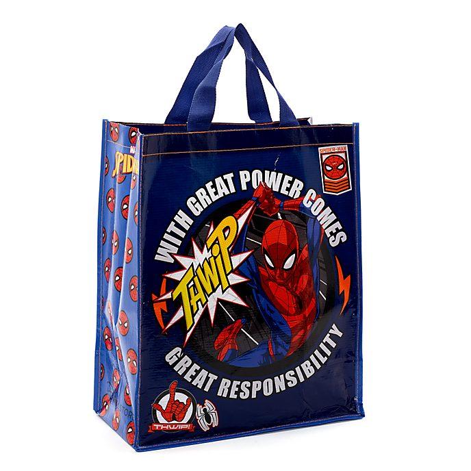 Disney Store Sac de shopping Spider-Man réutilisable, taille moyenne