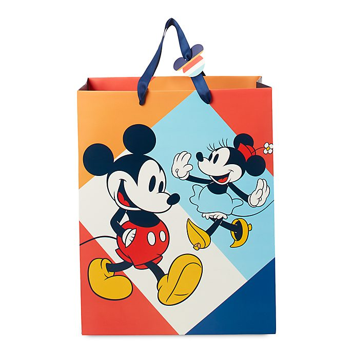 Disney Store Sac cadeau deluxe Mickey et Minnie Mouse, moyenne taille
