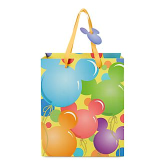 Disney Store Mickey Mouse Balloons Gift Bag, Small
