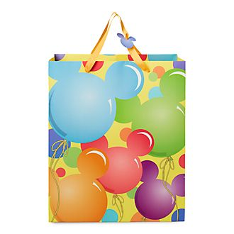 Disney Store Mickey Mouse Balloons Gift Bag, Medium