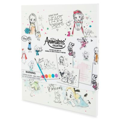 Disney Animators' Collection Postcard And Paint Set