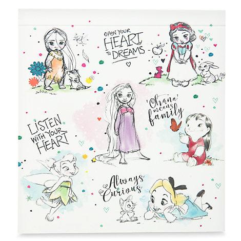 Ensemble de cartes postales et nécessaire de peinture de la collection Disney Animators