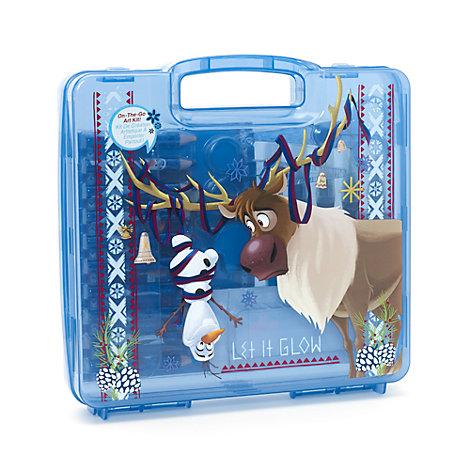 Kit artistique de voyage 23 pièces, Joyeuses fêtes avec Olaf