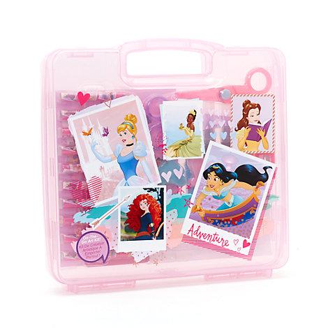 Disney Prinsessor konstnärskit för resor med 23 delar