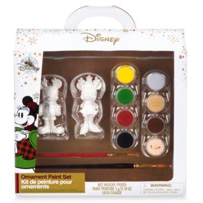 Set pintura para adornos de Navidad Mickey y Minnie Mouse