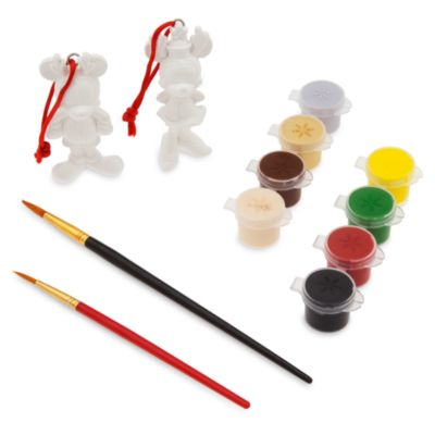 Mickey and Minnie Mouse Christmas Ornament Paint Set