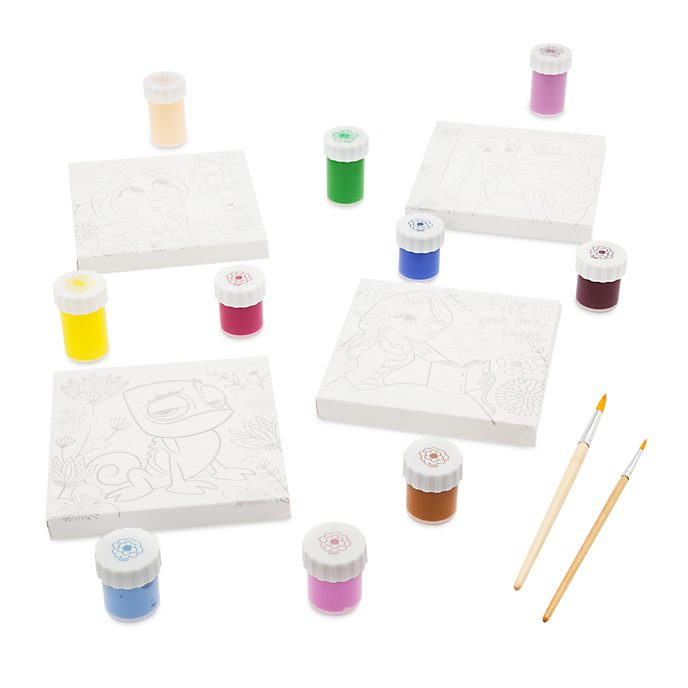 Disney Store Tangled: The Series Canvas Paint Set