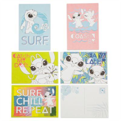 Set di cartoline e matite colorate Stitch