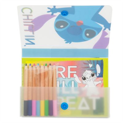 Stitch Postcard and Colouring Pencils Set