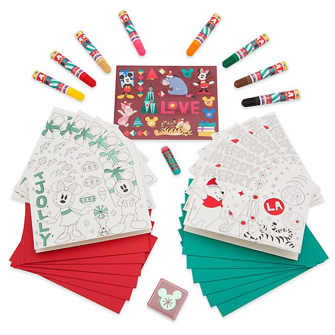 Disney Store Share the Magic Create Your Own Holiday Cards Kit