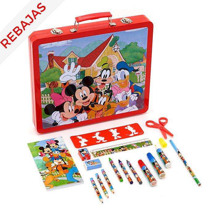 Maletín dibujo Mickey y sus amigos, Disney Store (50piezas)