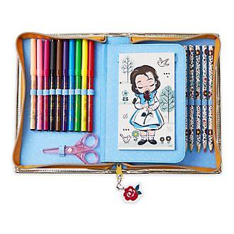 Disney Store Disney Animators' Collection Belle Zip-Up Stationery Kit