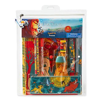 Disney Store The Lion King Stationery Supply Kit