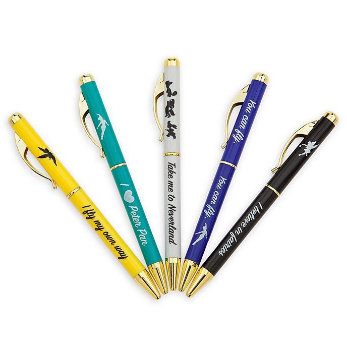 Disney Store Peter Pan Pens, Set of 5