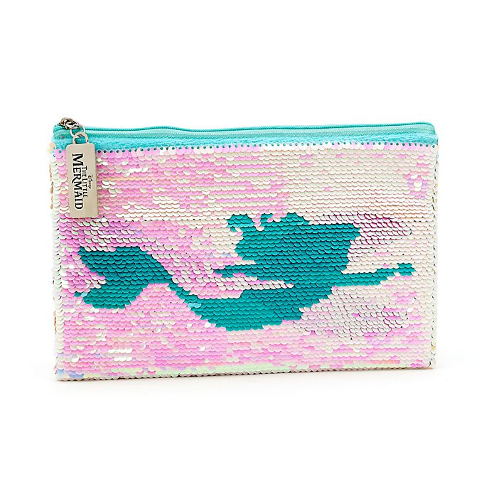 Disney Store The Little Mermaid Reversible Sequin Pencil Case