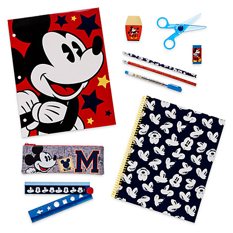 Ensemble de fournitures de papeterie Mickey Mouse