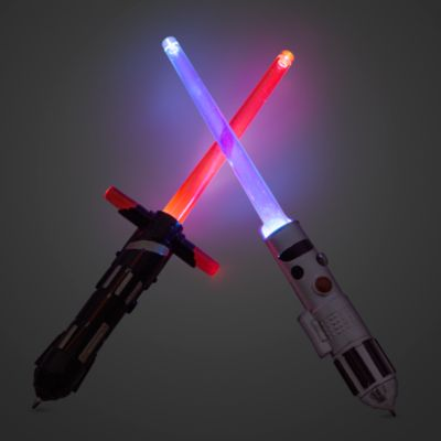 Pennsats i form av ljussvärd med lampa från Star Wars: The Last Jedi