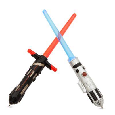 Star Wars: Die letzten Jedi - Beleuchtetes Stifte-Set im Laserschwertdesign