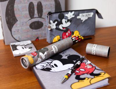 Micky Maus - 3-geteiltes Federmäppchen im Comic-Stil