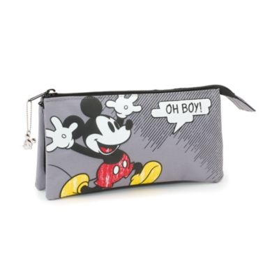 Trousse 3 compartiments à motif bande dessinée Mickey