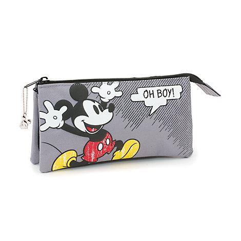 Estuche 3 bolsillos cómic Mickey Mouse