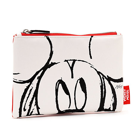 Mickey Mouse Sketch White Pouch