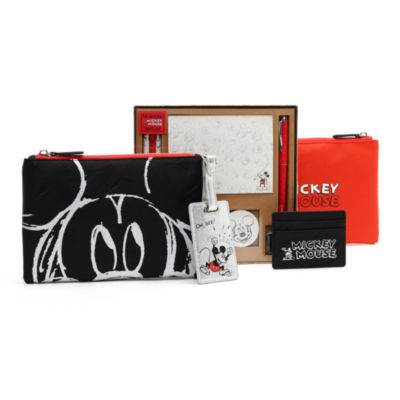 Mickey Mouse Sketch Black Pouch