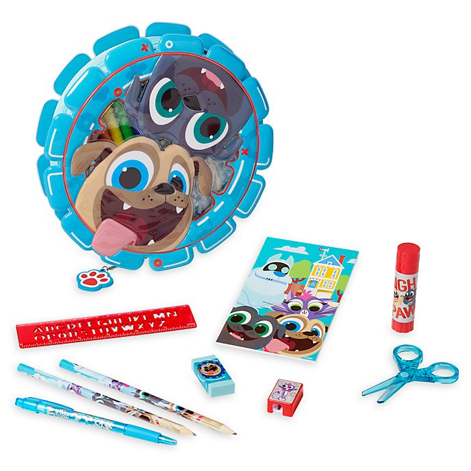 Disney Store Puppy Dog Pals Zip-Up Stationery Kit