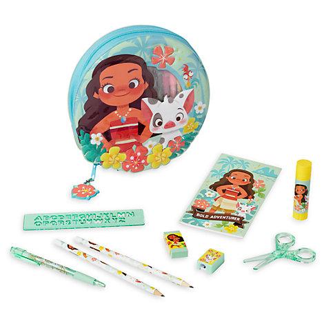 Disney Store Moana Zip-Up Stationery Kit
