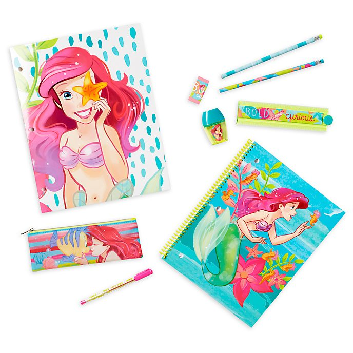 Disney Store The Little Mermaid Stationery Supply Kit