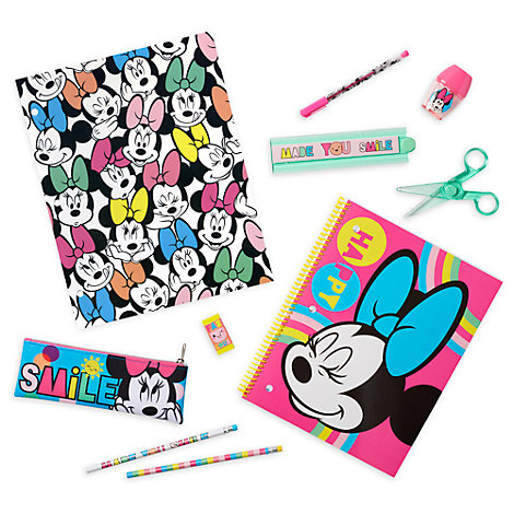 Disney Store Minnie Mouse Stationery Supply Kit